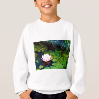 Water lily floating in a pond sweatshirt
