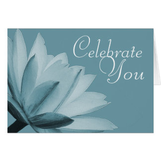 Water Lily Flower Photo Chic Floral Card