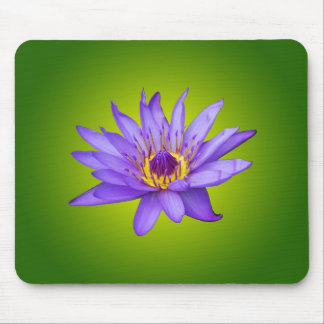 Water Lily Flower Pond Aquatic Purple Water Bloom Mouse Pad