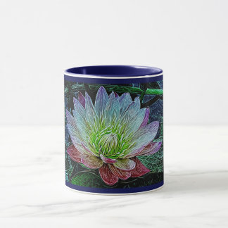 """""""Water Lily"""" Flower Purple Pretty Lily Mug Cup"""