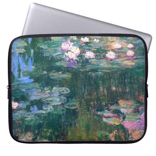 Water Lily Flowers Electronics Bag