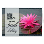 Water lily for 90th birthday