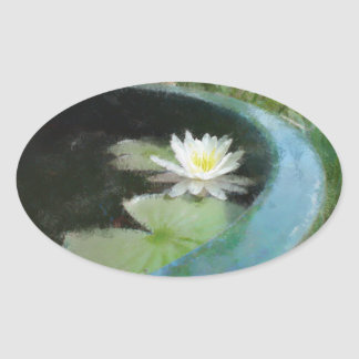 Water Lily Gift Range Oval Sticker