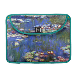 Water Lily Impressionism Rickshaw Flap Sleeve Sleeve For MacBook Pro