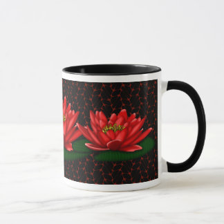 Water Lily in Red Coffee/Tea Mug