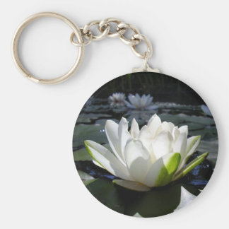 Water lily key ring