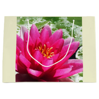 Water lily large gift bag