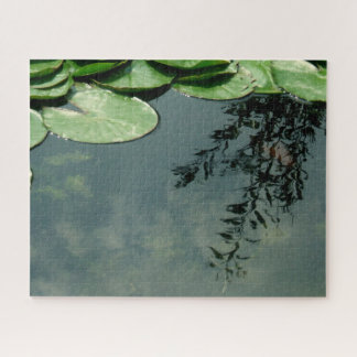 Water Lily Leaves And Reflections Jigsaw Puzzle