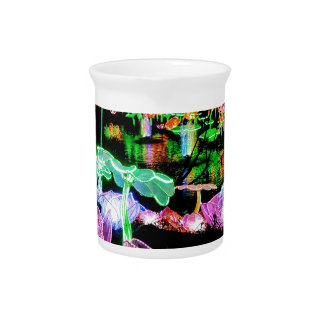 Water LIly Light Up Night Photography Drink Pitchers