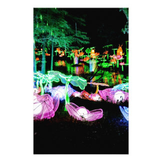 Water LIly Light Up Night Photography Stationery