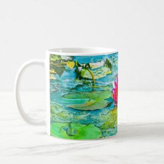 Water Lily Lilypad Basic White Mug