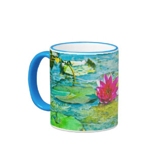 Water Lily Lilypad Coffee Mug