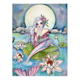 Water Lily Mermaid- Postcard