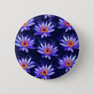 Water Lily Modern 6 Cm Round Badge