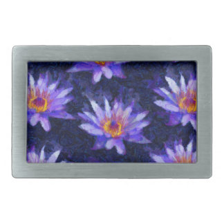 Water Lily Modern Belt Buckles