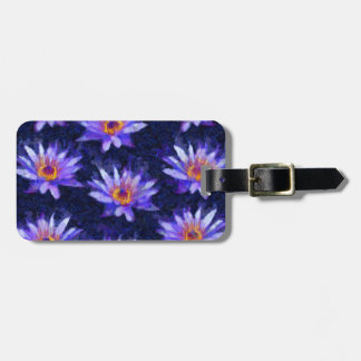 Water Lily Modern Luggage Tag