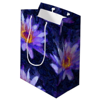 Water Lily Modern Medium Gift Bag