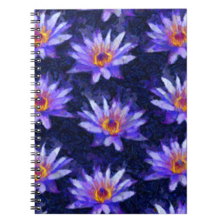 Water Lily Modern Notebooks