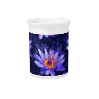 Water Lily Modern Pitcher