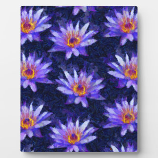 Water Lily Modern Plaque