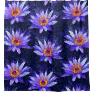 Water Lily Modern Shower Curtain
