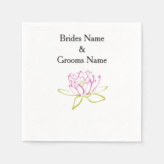 Water Lily Modern Simple Elegant WeddingIdeas Paper Napkin