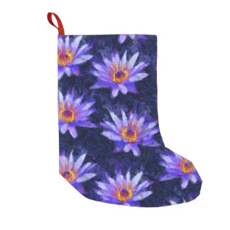 Water Lily Modern Small Christmas Stocking