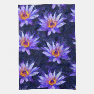 Water Lily Modern Tea Towel