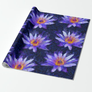 Water Lily Modern Wrapping Paper