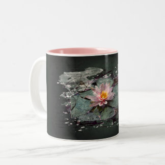 Water Lily - of Lotus flower, sea-rose in the pond Two-Tone Coffee Mug