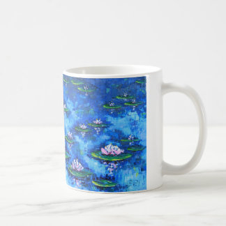 Water Lily Painting, Flower Art, Flowers Coffee Mug