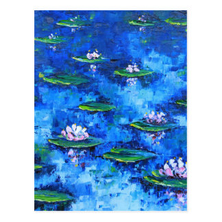 Water Lily Painting, Flower Art, Flowers Postcard
