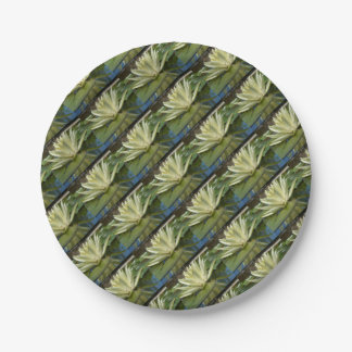 Water lily paper plate