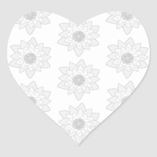 Water Lily Pattern in Light Gray and White. Stickers