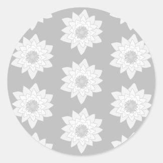 Water Lily Pattern in Light Gray. Sticker