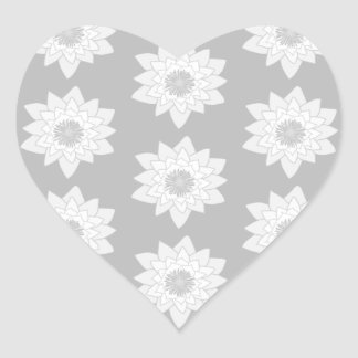 Water Lily Pattern in Light Gray. Stickers