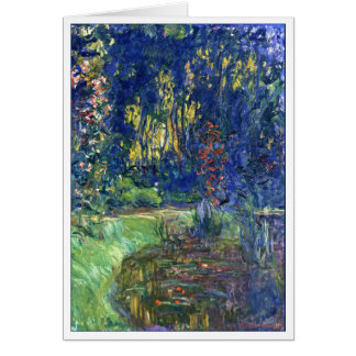 Water Lily Pond at Giverny by Monet Card