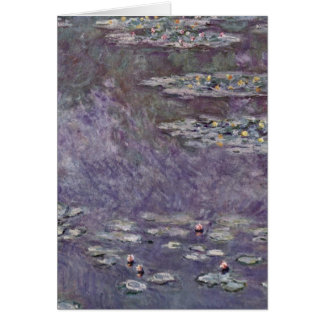 Water Lily Pond By Claude Monet Cards