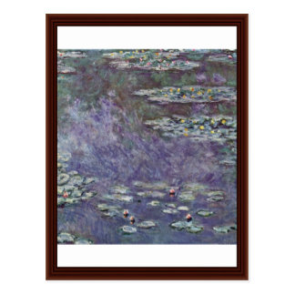 Water Lily Pond By Claude Monet Post Cards