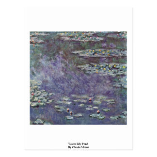 Water Lily Pond By Claude Monet Post Card