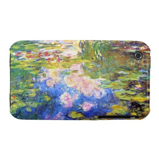 Water Lily Pond Claude Monet iPhone 3 Covers