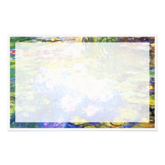Water Lily Pond Claude MoneT FINE ART PAINTING Personalized Stationery