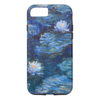 Water Lily Pond in Blue Monet Fine Art iPhone 8/7 Case