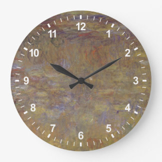 Water-Lily Pond Large Clock