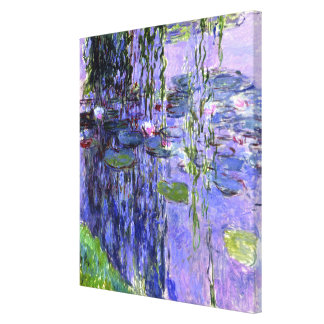 Water Lily Pond Violet Reflections Impressionism Gallery Wrapped Canvas