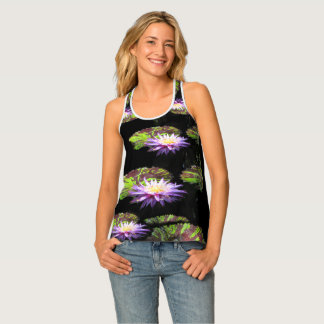 Water Lily! Purple Flower Lilley! Lilly Pond Tank Top