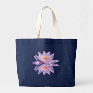 Water Lily Reflection Large Tote Bag