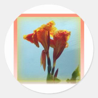 Water Lily Round Sticker