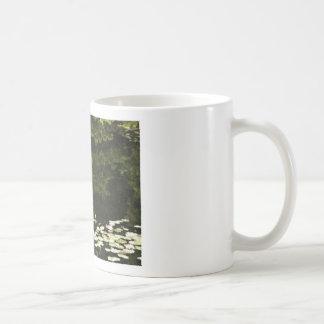 Water Lily Scene Drawing Mugs
