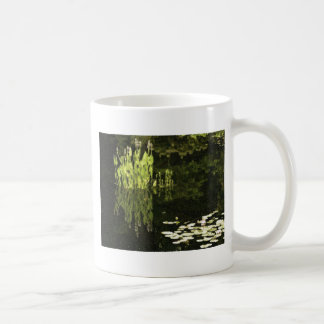 Water Lily Scene Drawing Coffee Mug